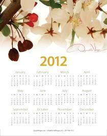 Donald Verger's 2012 One Page Poster Calendar (Cherry Blossom)