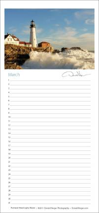 A sample page from Don's new perpetual calendar