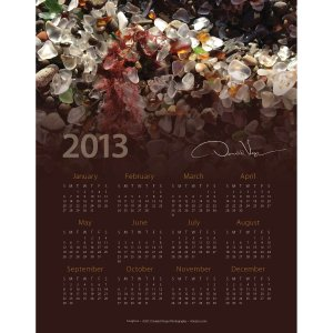 Sea Glass At a Glance 2013 Calendar