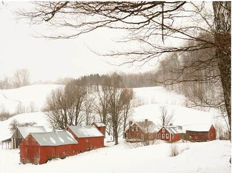 donald verger barn in winter
