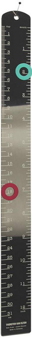 ruler with intergrated perpetual calendar 2