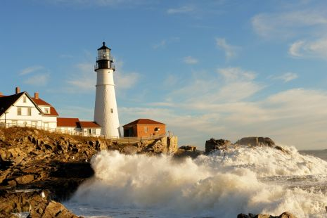 portland head light after the storm