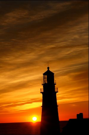 portland headlight sunrise or sunset