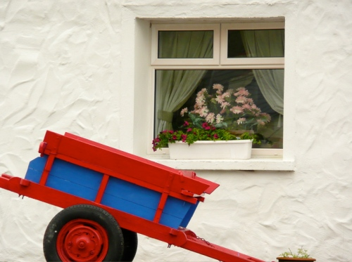 window box with cart