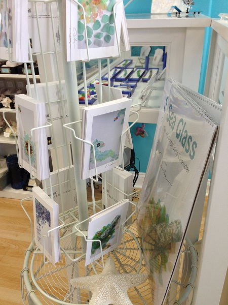 sea glass postcard rack