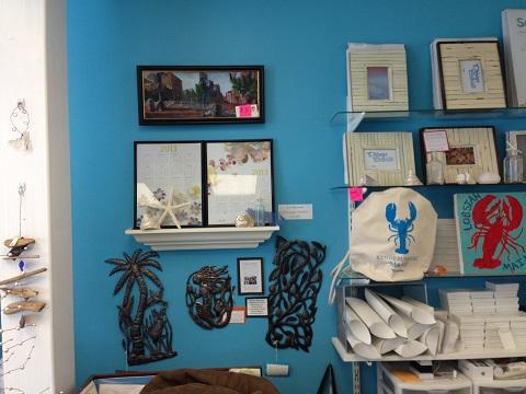 sea glass shop wall