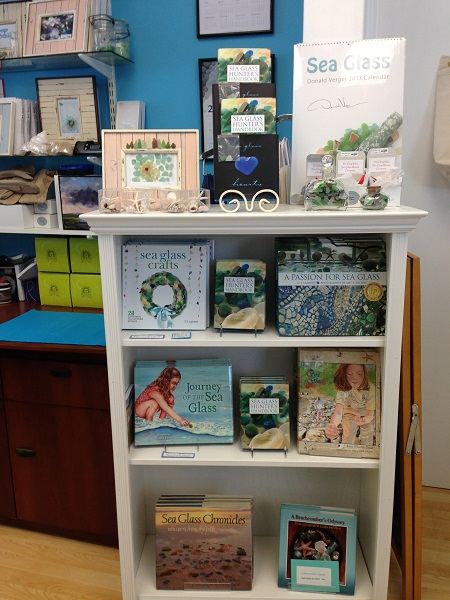 sea glass store bookcase