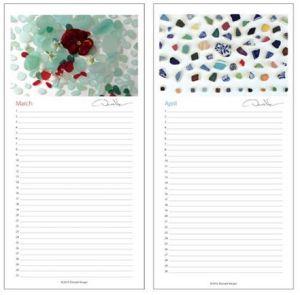 new sea glass calendar 2
