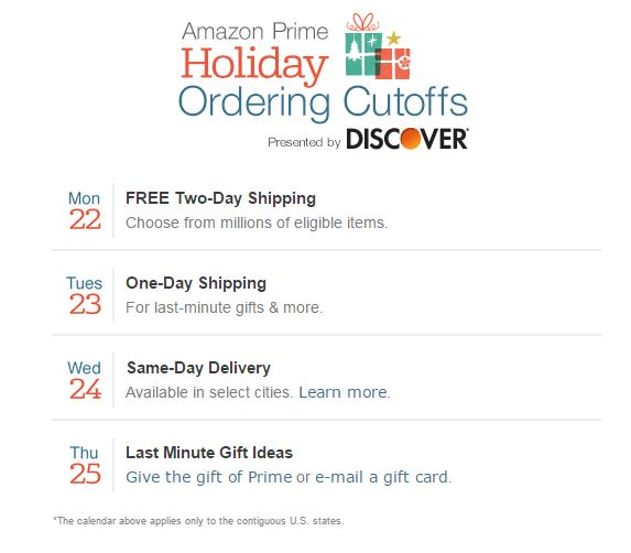 amazon shipping offers 2014