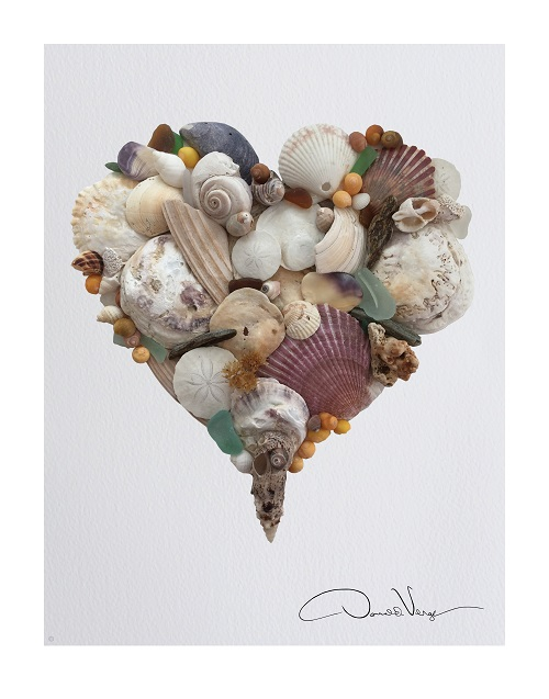 sea shell heart poster 500