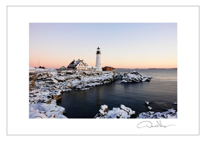 New year's Peace lighthouse postcard