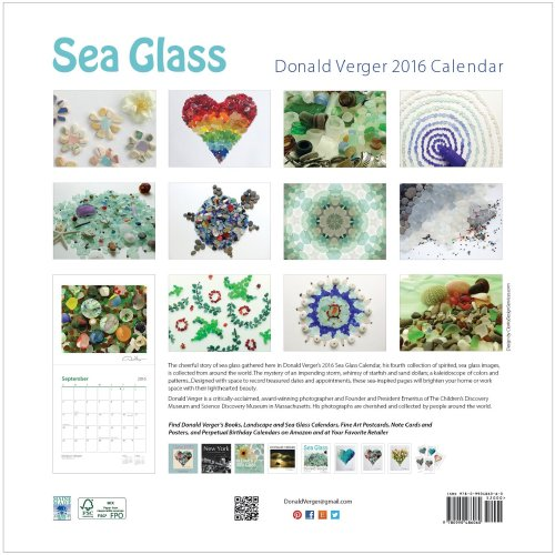 2016 sea glass calendar back