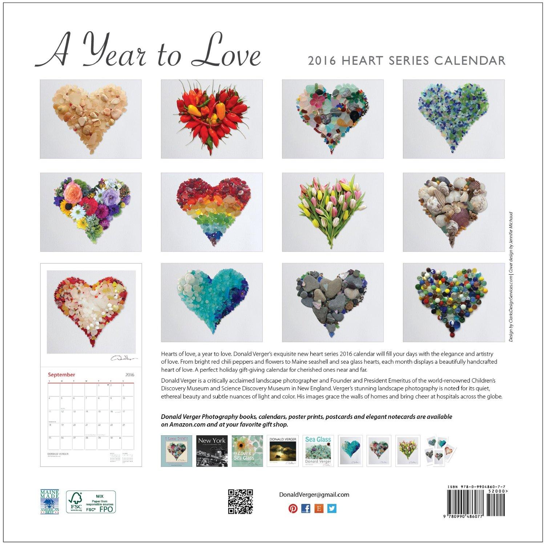 heart calendar back