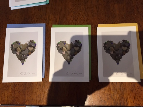 stone heart notecards