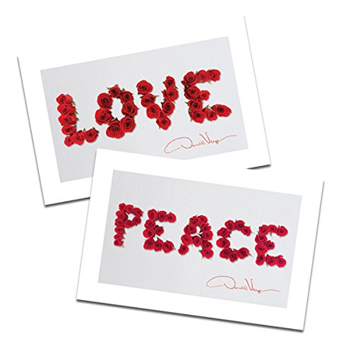 love and peace postcards