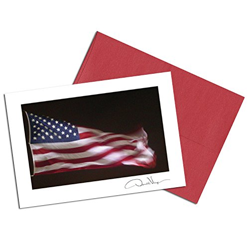 american flag note cards