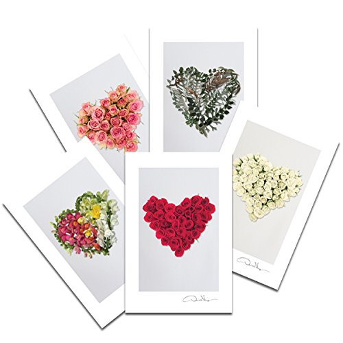 flower heart postcards