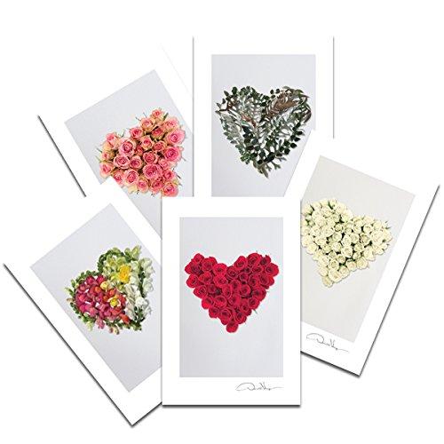 flower heart postcards