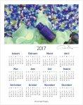 2017 blue bottle one page calendar