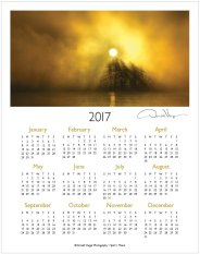 2017 spirit one page calendar